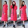 зимове пальто утеплене довге в стилі ретро з етнічною вишивкою 3 кольори