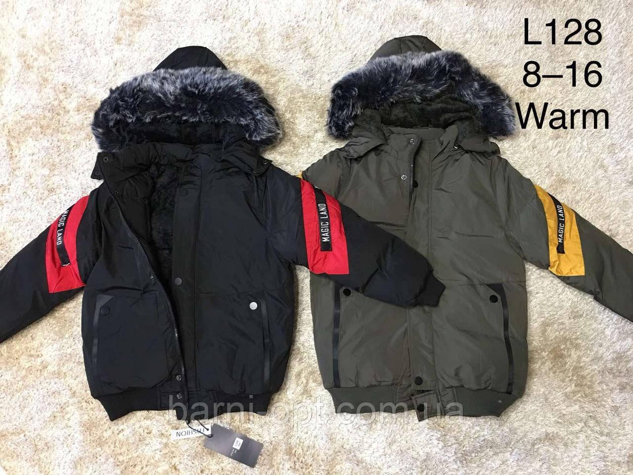 Куртки зимние на мальчика оптом, F&D, 6-16 рр