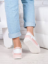 Кросівки шкіра біло-рожеві Лола 6918-28, фото 3
