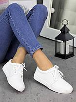Белые кожаные кеды 7255-28, фото 2
