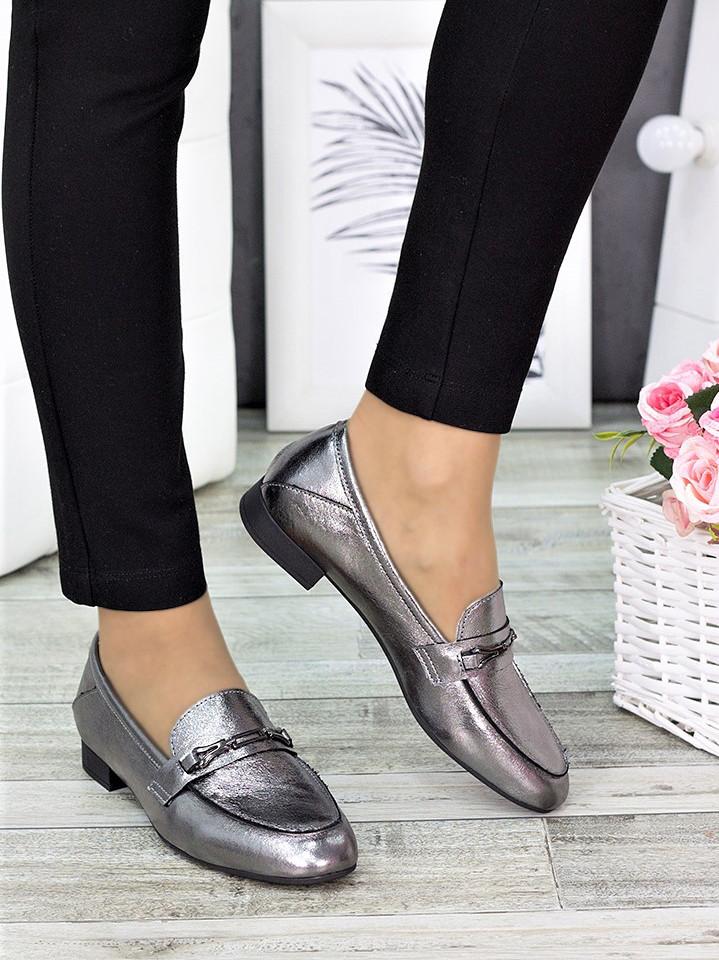 Туфлі шкіряні сатин Пеггі 7277-28