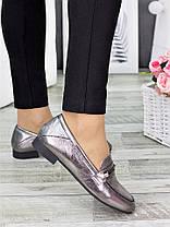 Туфлі шкіряні сатин Пеггі 7277-28, фото 3