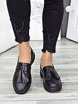 Туфли лоферы черная кожа 7279-28, фото 2