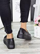 Туфли лоферы черная кожа 7279-28, фото 3
