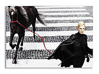 "Картина на холсте ""Женщина и лошадь"""