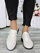 Туфли кожаные шампань (лето) Эвелин 7295-28, фото 3