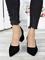 Туфли лодочки черная замша Laura 7306-28, фото 3