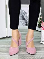 Туфлі Marsel пудра замша 7315-28, фото 2