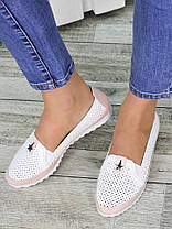 Туфли мокасины летние кожаные 7326-28, фото 2