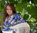 Весеннее утро 555-4, павлопосадский платок шерстяной с шелковой бахромой, фото 3