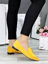 Класичні туфлі на низькому ходу гірчиця 7367-28, фото 2