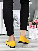 Класичні туфлі на низькому ходу гірчиця 7367-28, фото 3