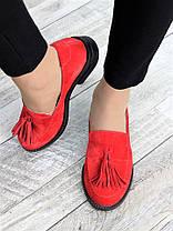 Туфлі лофери №2 червона замша 7375-28, фото 2