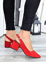 Туфлі червона замша Molly 7415-28, фото 2