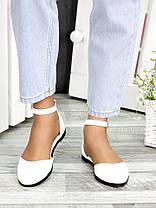 Туфлі Аліса біла шкіра 7418-28, фото 3