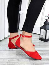 Туфли Алиса красная замша 7421-28, фото 2