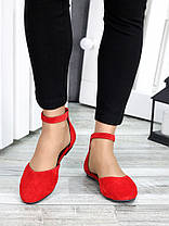 Туфли Алиса красная замша 7421-28, фото 3