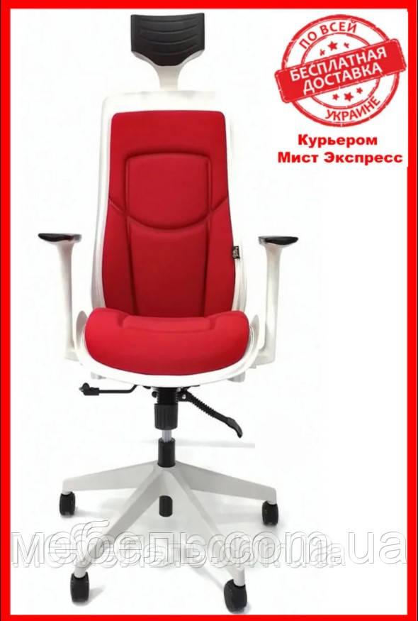 Кресло для работы дома Barsky BFB-04 Freelance White/Red, кресло из ткани, белый / красный