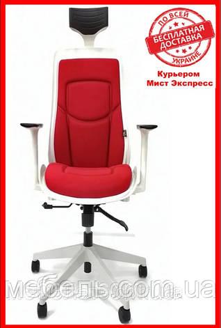 Кресло для работы дома Barsky BFB-04 Freelance White/Red, кресло из ткани, белый / красный, фото 2