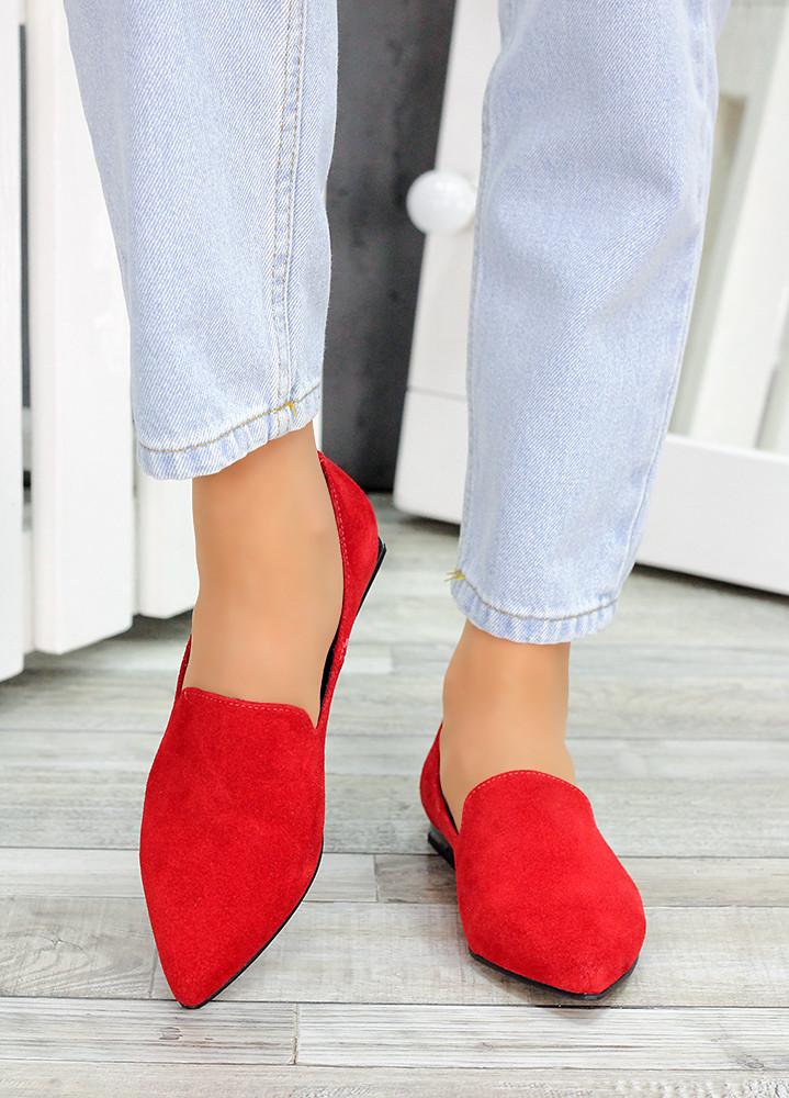 Туфлі човники червона замша Magic 7481-28