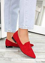 Туфлі човники червона замша Magic 7481-28, фото 2