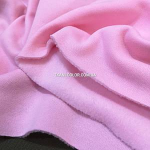 Футер трехнитка с начесом розовый