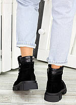 Ботинки трапперы черная замша 7502-28, фото 3