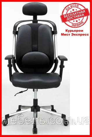 Крісло для лікаря Barsky ER-01 black Ergonomic, крісло з тканини, чорний, фото 2