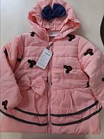 Весняна курточка для дівчинки на ріст 98-104 см на синтипоні