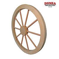 Колесо деревянное от телеги 70 см, с круглыми спицами
