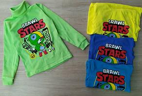 Водолазки для хлопчиків Brawl Stars із начосом ,колір салатовий на ріст:86-92,92-98 см