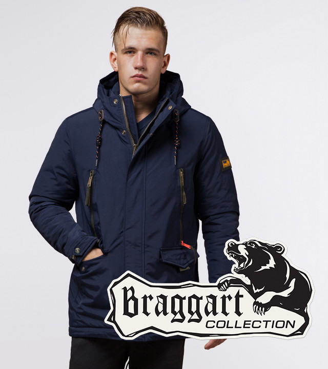 Braggart Arctic 1533   Парка стильная зимняя мужская синяя 48 (M) 50 (L) 52 (XL) 54 (XXL)