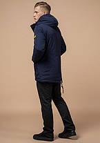 Braggart Arctic 1533   Парка стильная зимняя мужская синяя 48 (M) 50 (L) 52 (XL) 54 (XXL), фото 3