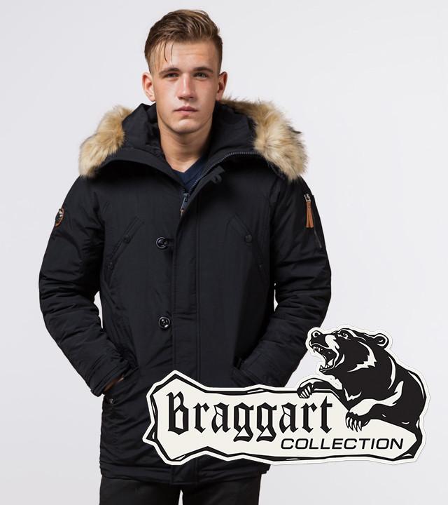 Braggart Arctic 3986 | Мужская зимняя парка черная 48 (M) 54 (XXL) 56 (3XL)
