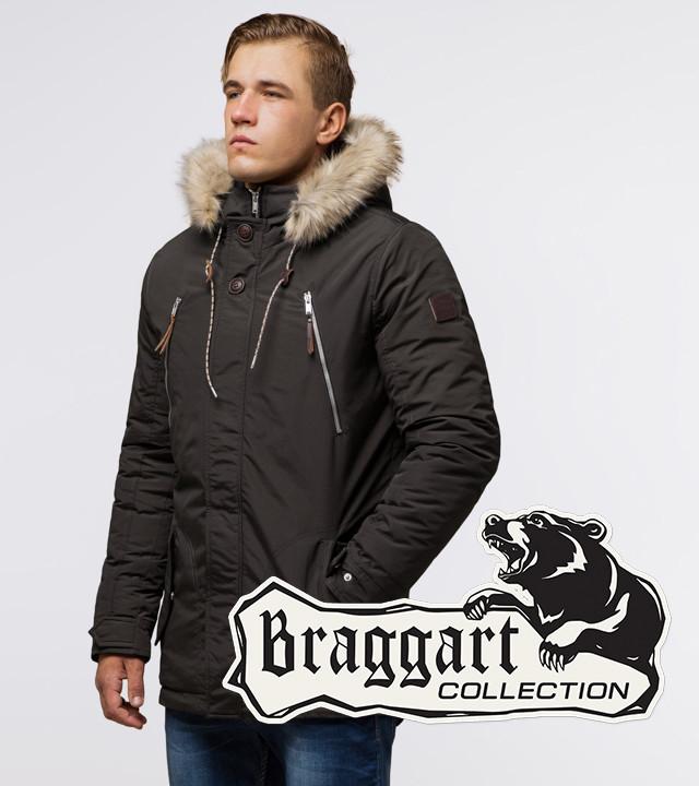 Braggart Arctic 14015 | Парка зимняя мужская коричневая