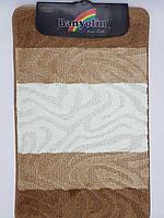 Набор ковриков с ворсом для ванной, коричневый, 50х80 и туалета 50х40 (Турция)