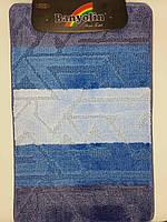 Набор ковриков с ворсом для ванной, синий, 50х80 и туалета 50х40 (Турция)