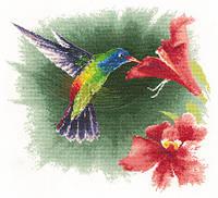 """""""Hummingbird in Flight"""" Heritage Crafts. Набор для вышивания крестом (H539)"""