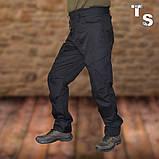 Штани поліції KORKA TEMPLUM RIP-STOP TEFLON чорні з липучкою, з ременем, фото 4