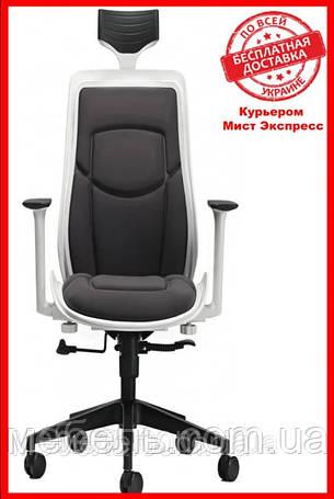 Офисный стул Barsky BFB-01 Freelance White/Gray, кресло из ткани, фото 2