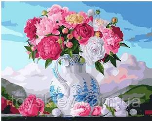 Картина по номерам Brushme Букет рожевих лілій GX25496 40х50см набор для росписи Цветы и натюрморты
