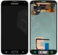 Дисплей + touchscreen (сенсор) для Samsung Galaxy S5 G900F/G900H, кнопка HOME, оригинал (черный)