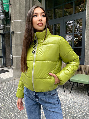 Жіноча коротка дута куртка осінь-зима