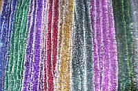 Мишура Новогодняя с белыми кончиками d=5 см ,3м, 100шт/в уп. (1 уп.) микс расцветок по 3м, фото 1