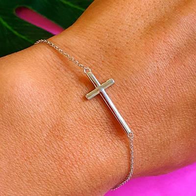 Срібний браслет на руку - Жорсткий срібний браслет