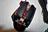 Миша комп'ютерна ігрова Tanderwolf V9, 8 кнопок провідна чорна, фото 5