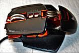 Миша комп'ютерна ігрова Tanderwolf V9, 8 кнопок провідна чорна, фото 8