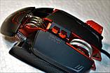 Миша комп'ютерна ігрова Tanderwolf V9, 8 кнопок провідна чорна, фото 6