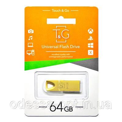 Накопичувач USB 64GB T&G металева серія 117 золото