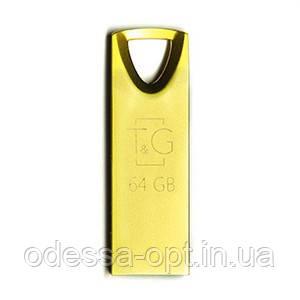 Накопичувач USB 64GB T&G металева серія 117 золото, фото 2